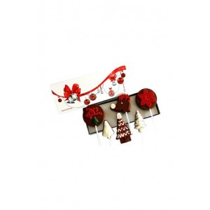 Jus' Trufs Assortment Of Christmas Chocolate Lollipops