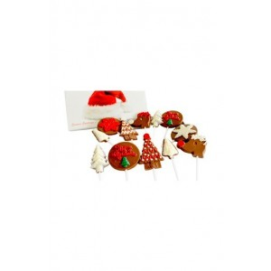 Jus' Trufs Big Assortment Of Christmas Chocolate Lollipops
