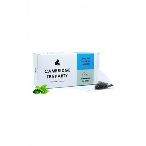 Cambridge Tea Party Mint Green Tea - 20 Pyramid Tea Bags
