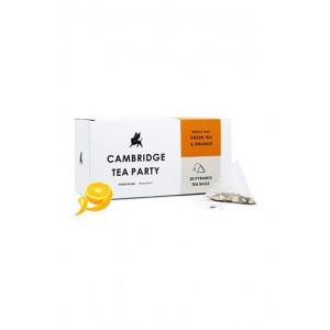 Cambridge Tea Party Orange Peel Green Tea - 20 Pyramid Tea Bags