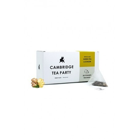 Cambridge Tea Party Crushed Ginger Green Tea - 20 Pyramid Tea Bags