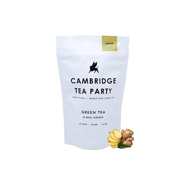 Cambridge Tea Party Crushed Ginger Green Tea - 40G