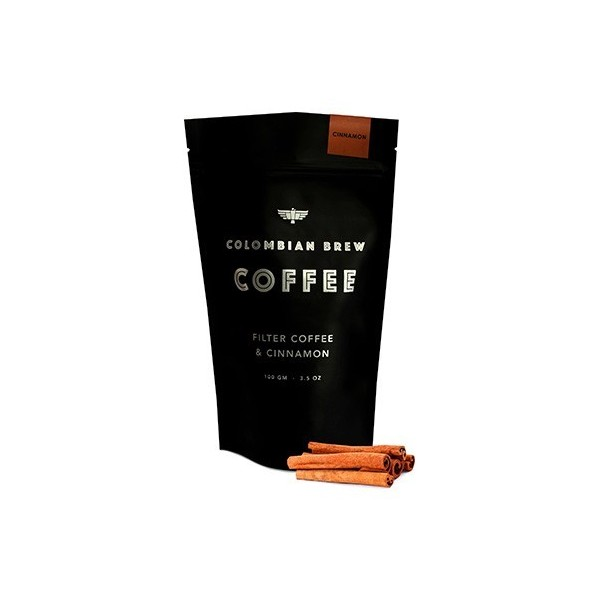 Colombian Brew Cinnamon Ground Coffee / Filter Coffee - 100G