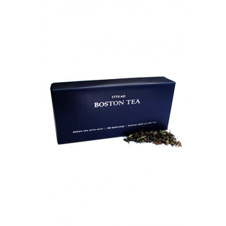 Boston Tea Green Tea With Mint Leaves - 30 Servings