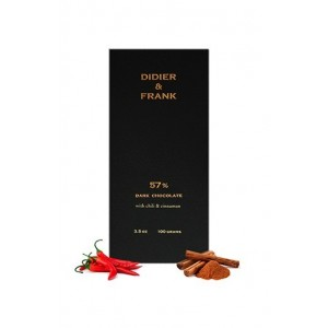 Didier & Frank 57% Dark Chocolate With Chilli & Cinnamon - 100G