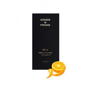 Didier & Frank 57% Dark Chocolate With Orange Zest - 100G