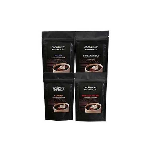 Cocosutra 4 in 1 Pack of Hot Chocolate Blends 400g