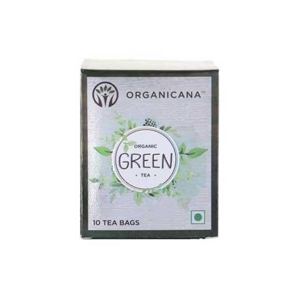 Organicana -Organic Green Tea Teabags-Tulsi ( 5 Packs X 10)