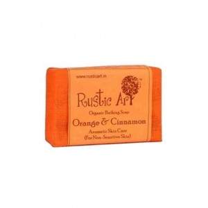 Rustic Art - Organic Orange And Cinnamon Soap