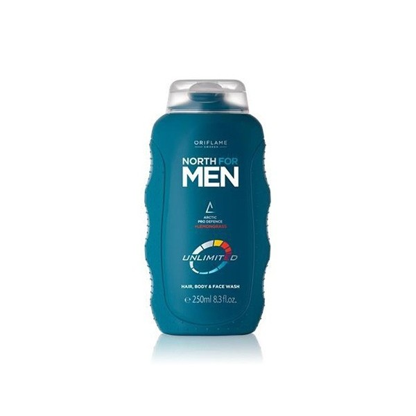 Oriflame North For Men Unlimited Hair, Body & Face Wash
