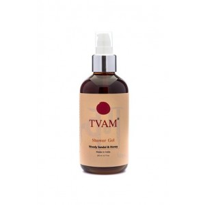 Tvam Woody Sandalwood and Honey Shower Gel