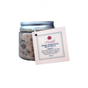 Tvam Rose Geranium Bath Salt