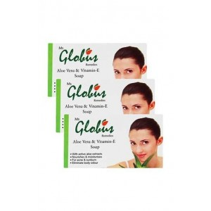 Globus Aloe Vera Vitamine-E & Milk Cream Soap Pack of 2