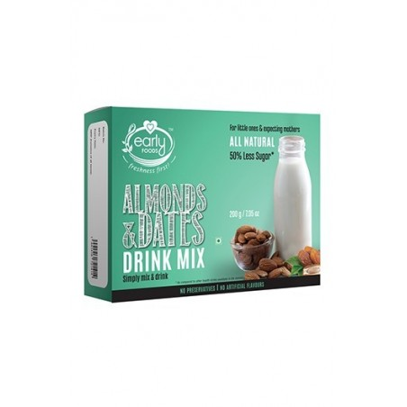 Early Foods- 100% Organic Badam & Dates Health Drink Mix - For 1 Year Onwards