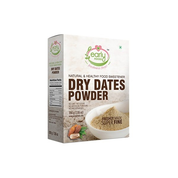 Early Foods-100% Organic Dried Dates Powder- Iron Rich Natural Sweetener- 8 Months+