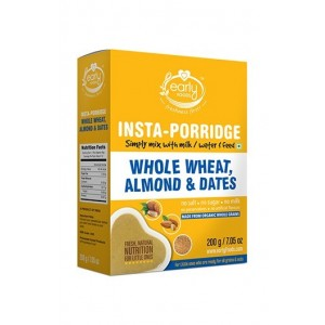Early Foods- 100% Organic Instant Wheat, Almond & Date Porridge Mix- For 8 Months+