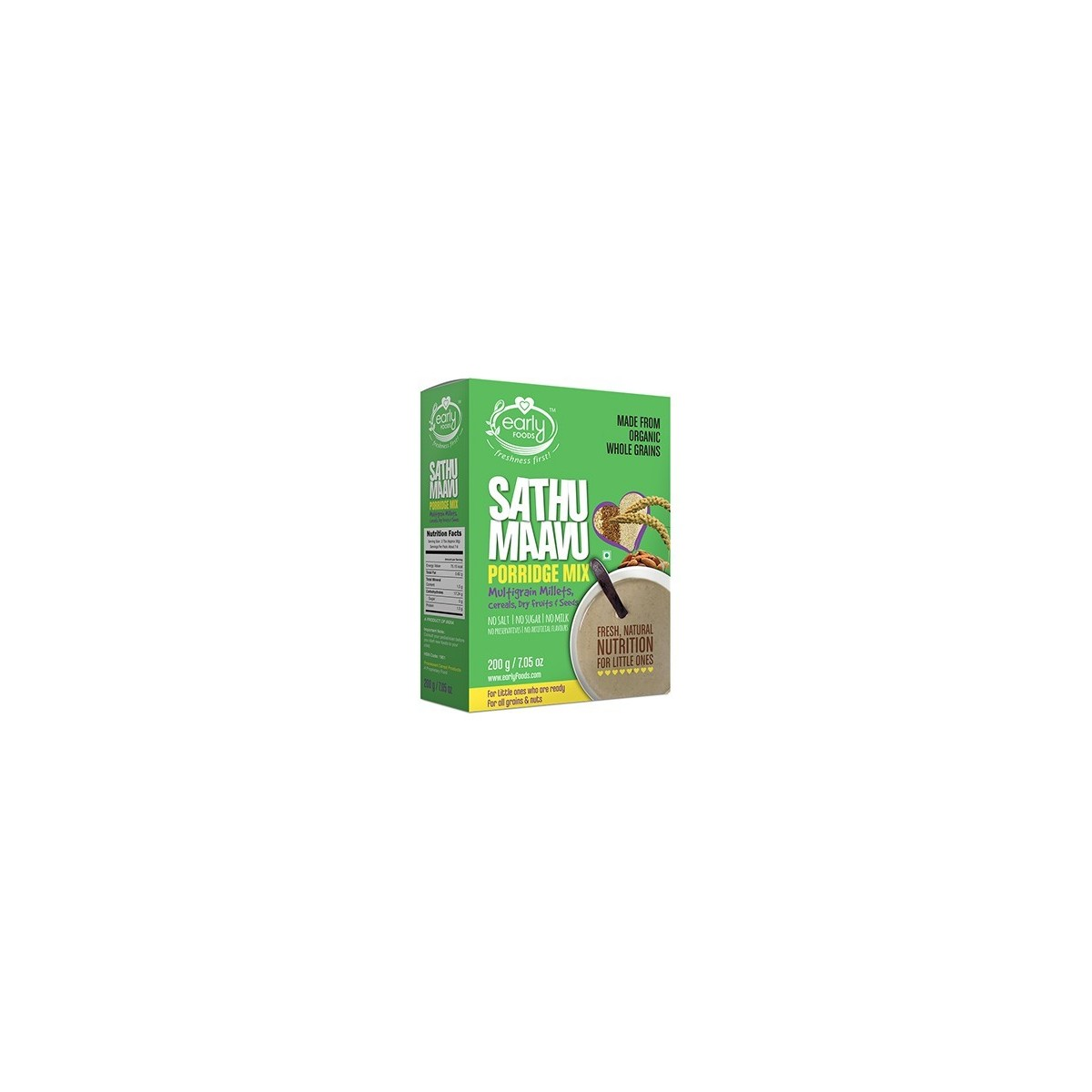 Early Foods- 100% Organic Multi-Grain Porridge Mix- For 9 Months+