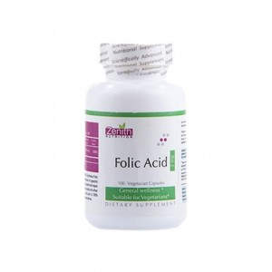 Zenith Nutrition Folic Acid 2mg - 100 Capsules