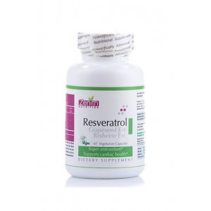 Zenith Nutrition Resveratrol Grapeseed Ext  Red Wine Extract - 60 Capsules