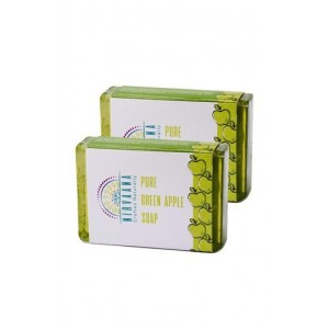 Nirvaana Handmade GreenApple Soap set of Five (02)
