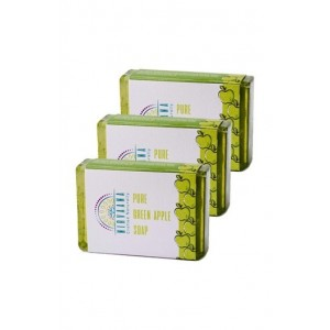 Nirvaana Handmade GreenApple Soap set of three (03) 100g each