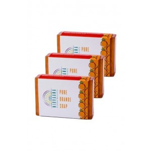 Nirvaana Handmade Orange Soap Set Of Three (03) 100G Each