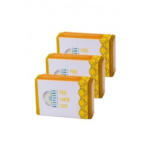 Nirvaana Handmade Lemon Soap Set Of Three (03) 100G Each