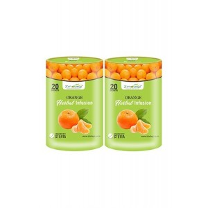 Zindagi Orange Herbal Infusion - Pure Orange Fruit Juice - Natural Health Drink (Pack Of 2)