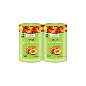 Zindagi Peach Herbal Infusion - Sugarfree Health Drink - Pure Peach Fruit Juice Powder (Pack Of 2)