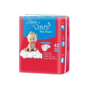 Stay sure Baby Diaper - Medium (Pack Of 42)