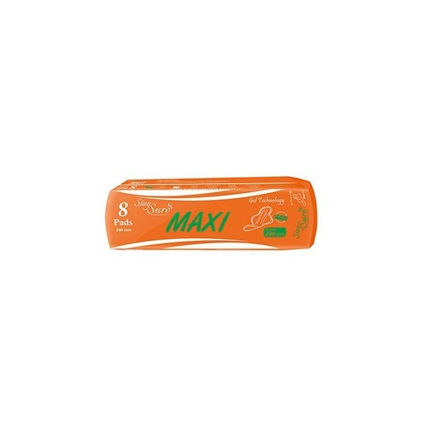 Stay sure Sanitary Napkin - Maxi 24cm (Pack Of 8)