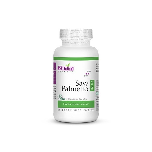 Zenith Nutrition Saw Palmetto 160mg - 120 Capsules
