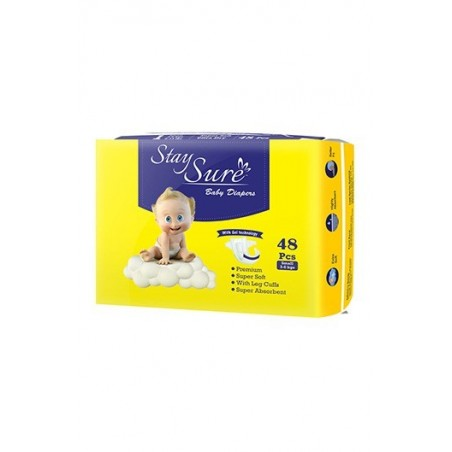 Stay Sure Baby Diaper - Small (pack of 48)