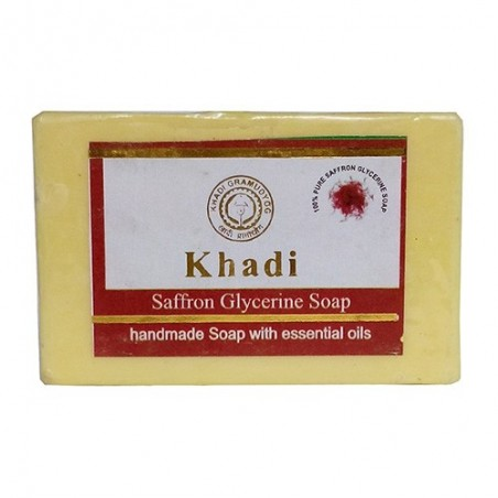 Khadi Saffron Soap  125grams