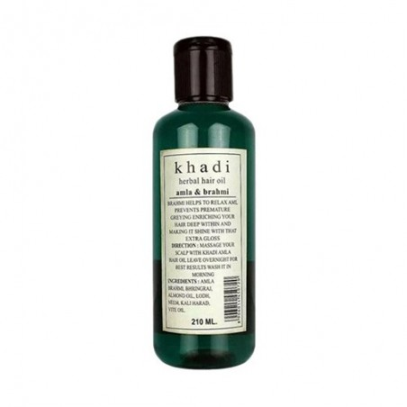 khadi Amla With Brahmi 210ml