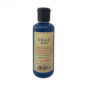 Khadi Lavender & Ylang Ylang Massage Oil Without Mineral Oil (SLS & Paraben Free) - 210ml