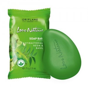Oriflame Love Nature Soap Bar - Antibacterial Neem & Basil - 34413
