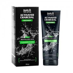 Healthvit Activated Charcoal Facewash, 100g