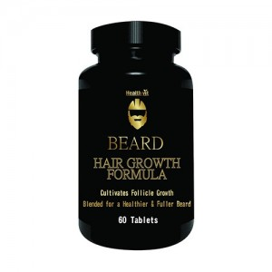 Healthvit Beard Facial Hair Supplement For Thicker & Fuller Beard 60 Tablets