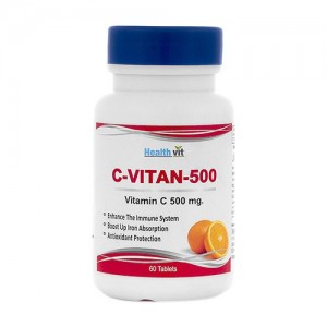 Healthvit C-Vitan-500 Vitamin C 500mg Orange Flavor  60 Tablets