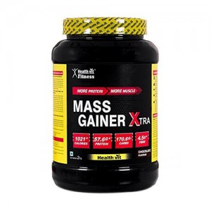 Healthvit Fitness Mass Gainer Xtra Chocolate Flavour 2kg / 4.4 lbs