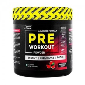 Healthvit Fitness Pre-Workout Explosive Energy 300gm Powder (Watermelon Tequila Flavour)