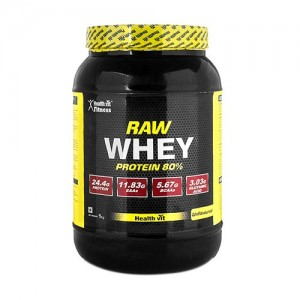 Healthvit Fitness Unflavoured Whey Protein Concentrate 80% (Raw Whey, 1Kg)