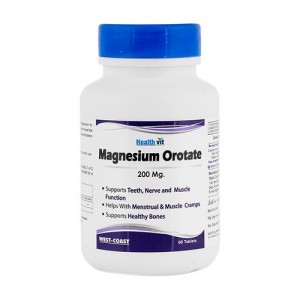 Healthvit Magnesium Orotate 200 Mg 60 Tablets