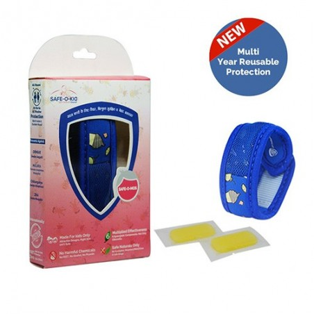 Safe-O-Kid Mosquito Band (Sugar Town) with 2 Refills - 6 Anti mosquito patches - stickers Free