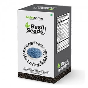 NutroActive Basil Seeds, Tukmariya/Sabja Seeds 250 gm