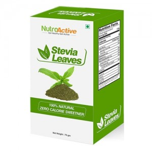 NutroActive STEVIA Leaves, Natural Sweetner - 75 gm
