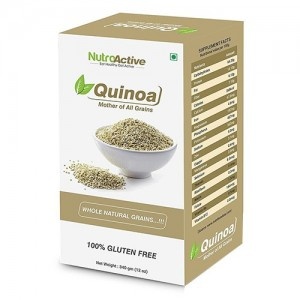 NutroActive QUINOA Whole Natural Grains, Gluten Free 340 gm