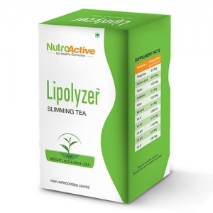 NutroActive LIPOLYZER Herbal Slimming Tea, Weight Loss Tea - 100 gm