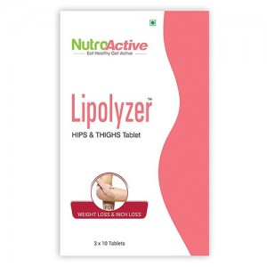 Nutroactive Lipolyzer Hips & Thighs Tablet For Weight Management 30 Tablets